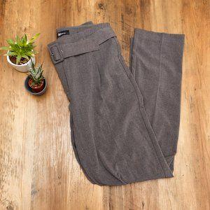 REITMANS | Grey Straight Leg Belted Dress Pants